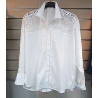 LADIES' COTTON WOVEN BLOUSE